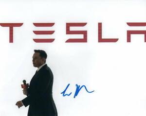 ELON MUSK SIGNED AUTOGRAPH 8X10 PHOTO - TESLA & SPACEX BILLIONAIRE CEO RARE ACOA