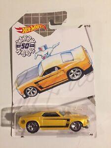 Hot Wheels ~ Larry Madera ~'69 Ford Mustang ~ 2019 ~ 50th aniversario ~ #4/10 ~ nuevo ~ Casi Nuevo