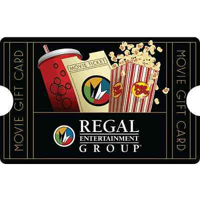 $50 Regal Entertainment Group® Gift Card for $40 - Mail Delivery
