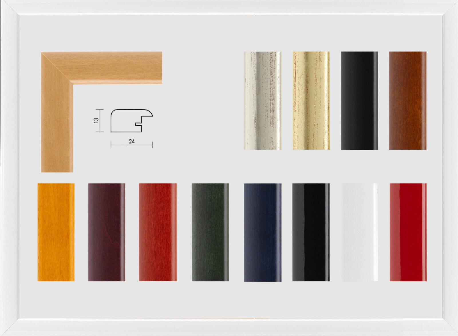 Luise vero legno cornice sottile elegante bianco lucido molti disponibili