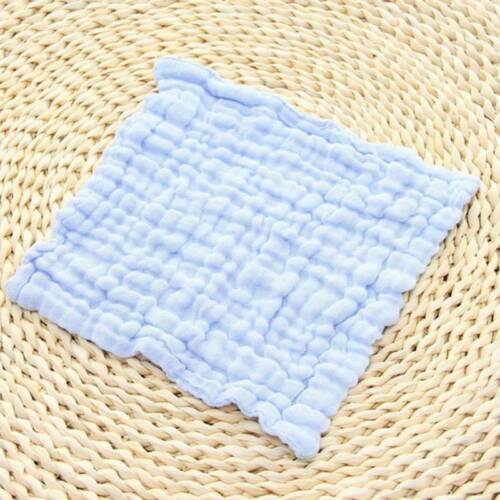 Saliva Towel Cotton Soft Baby Bibs Kids Face Cloth Hand Towels Wipes Square WA