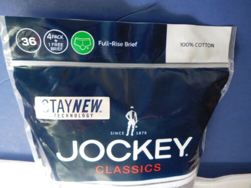 Jockey Classic Briefs 5 pack Full rise 100/% Cotton Underwear Y front Fly white