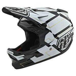 Troy Lee Designs D3 Fiberlite Helmet Vertigo Black / White Medium