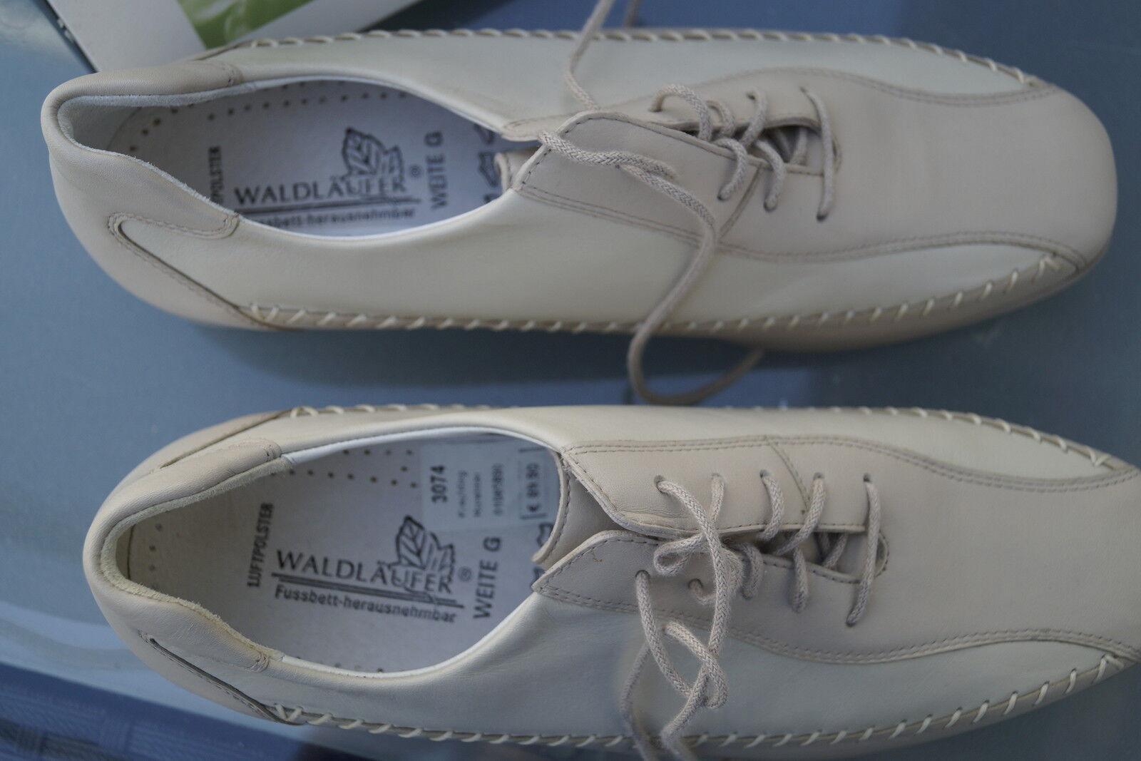 WALDLÄUFER Gerti Damen Comfort Schuhe Gr.5 Slipper Leder creme Einlagen Gr.5 Schuhe G 38 NEU d96046