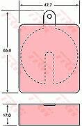 TRW GDB704 BRAKE PAD SET DISC BRAKE Front,Rear
