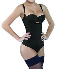 Camellias Seamless Firm Control Shapewear Open bust Bodysuit Body Shaper Black