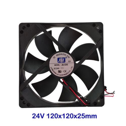 1800~2300s 120X120X25mm Brushless Cooling Fan Cooler 24V//200~240V DC 2 Pin