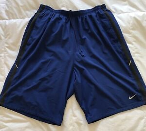 100% De Qualité Nike Men's Dri-fit Short Bleu. Coupe Ample-afficher Le Titre D'origine