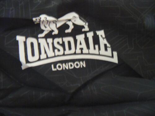 LONSDALE Goldswain Hooded Tracksuit Training Set Black S Med XL XXL