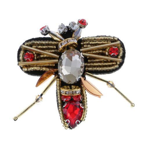 5 Pcs Sequins Rhinestone Bead Brooch Patches Applique Sew on Decor Patch DIY