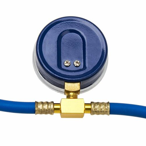 R-134A RECHARGE MEASURING KIT A//C CONDITIONING GAUGE SYSTEM HOSE BRASS CAN TAP