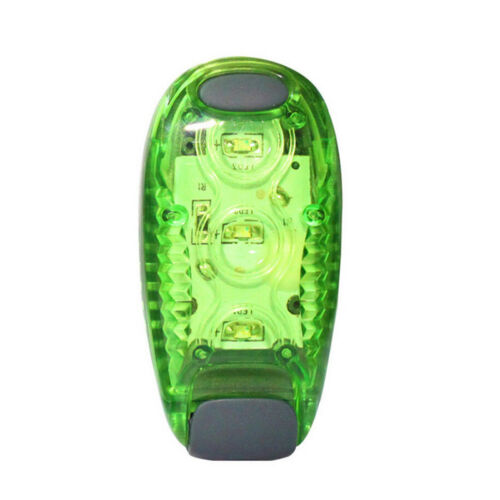 LED Light Up Safety Clip on Running Jogging Night Bike Bicycle Rear Light Green