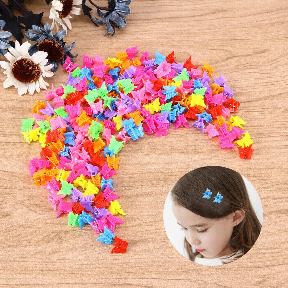 100Pcs Butterfly Hair Clips Claw Barrettes Mini Jaw Clip Hai