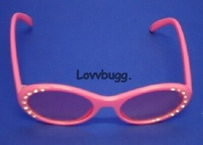 "Lovvbugg Pink Sun Glasses for 18"" American Girl Doll Clothes Accessory"