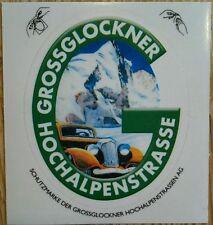Original Aufkleber / Plakette Grossglockner Hochalpenstraße * Oldtimer *