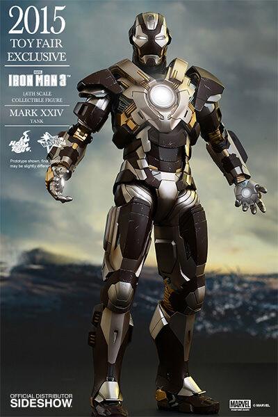 Iron Man 12' Mark XXIV Mk 24 Tank Toyfair 2015 Exclusive 1/6 Scale Action Figure