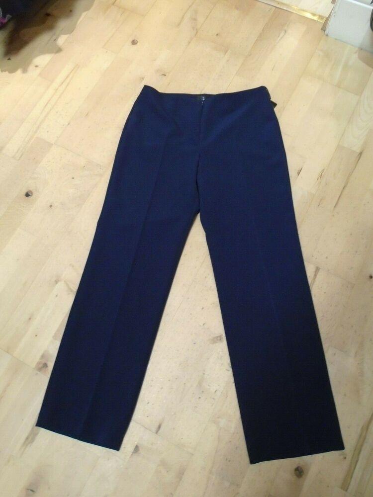 Bleu Marine Tia Plain Pantalon 71140