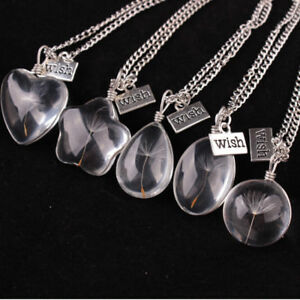 EG-GN-Crystal-Ball-Real-Dandelion-Seed-Wishing-Wish-Necklace-Long-Silver-Chain