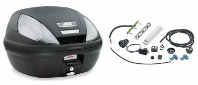 Bauletto Monolock Givi E370N con piastra e kit universale 39 litri