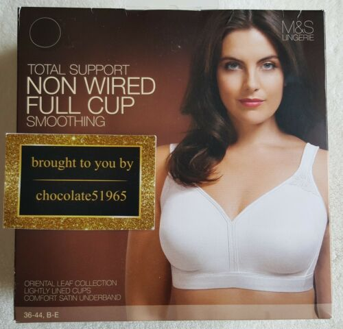 NEW M/&S TOTAL SUPPORT SMOOTHING FULL CUP WITH COMFORT SATIN UNDERBAND  BRA 40E