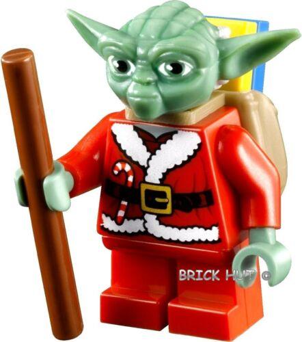 7958-NUOVO CANNA Pack /& parcles-RARE LEGO STAR WARS-Santa Yoda Capelli Bianchi