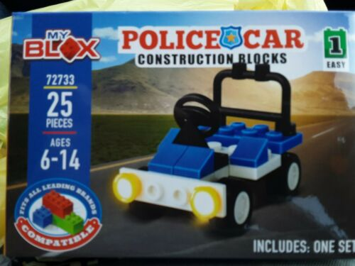 My Blox Police Car  Construction Blocks Mini Set 25 Pieces Ages 6-14 compatible