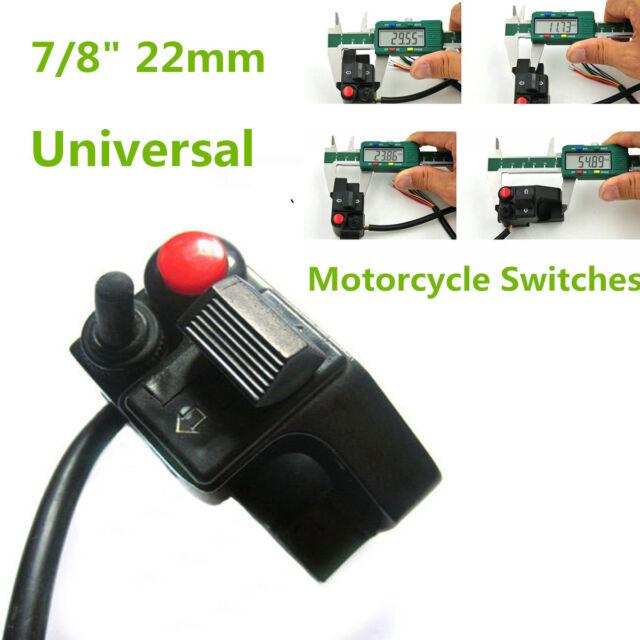 "Universal 7//8/"" Motorcycle ATV Handlebar Mount Push Button Turn Switch Green"