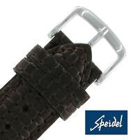20mm Speidel Tessuto Woven Genuine Leather Dark Brown Watch Band