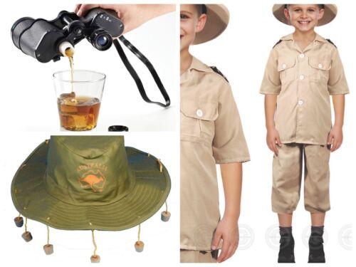 KIDS SAFARI ZOO STEVE IRWIN AUSTRALIA ZOO FANCY DRESS ACCESSORIES IN DROP MENU