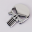 3D-Metal-Punisher-Emblem-Sticker-Skeleton-Skull-Decal-Badge-Car-amp-Truck-SILVER miniature 5