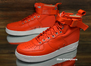 Nike SF Air Force 1 Mid Team Orange White 917753-800 Men's Shoes - Multi Comfortable