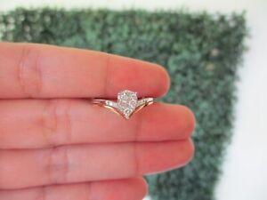 SALE‼️.30 CTW Diamond Engagement Ring 18k Twotone Gold ER629 sep