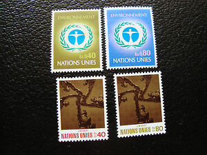 United-Nations-Geneve-Stamp-yt-N-25-26-28-29-N-A14-United-Nations