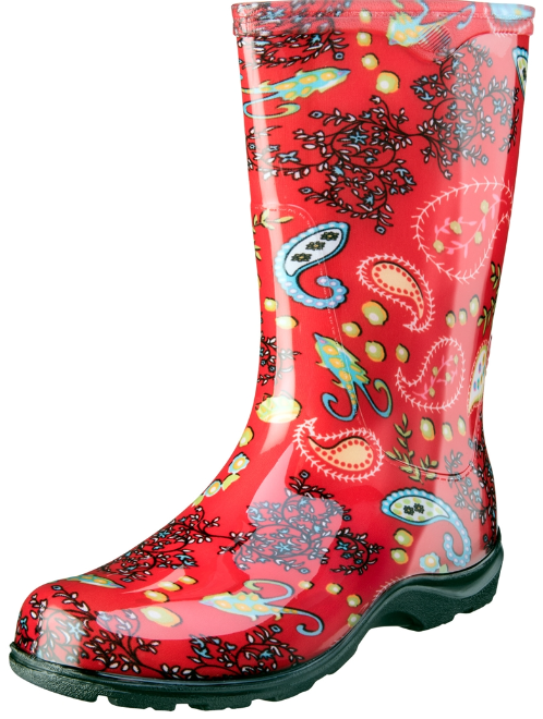 SLOGGERS Rain & Garden Boot - Paisley Red  - FAST SHIPPING