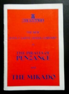 The Pirates of Penzance & The Mikado programme D'Oyly Carte Opera 1989 Derngate