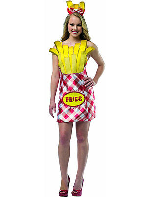 Adult Foodies French Fries Fancy Dress Costume Funny Comedy Hen Night Ladies