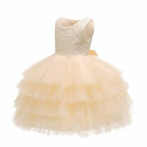 Party Formal Toddler Wedding Princess Kid Girl Bridesmaid Dress Flower Dresses