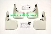 2010-2012 Chevy Avalanche Front/rear White Diamond Splash Guard Set