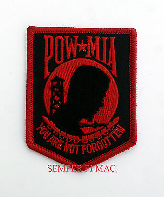 POW MIA HAT PATCH NOT FORGOTTEN US ARMY MARINES NAVY USCG AIR FORCE PIN UP GIFT