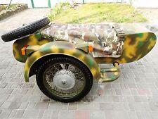 Sidecar: Military Motorcycle Dnepr. Compatible BMW Ural HD Harley Davidson Honda