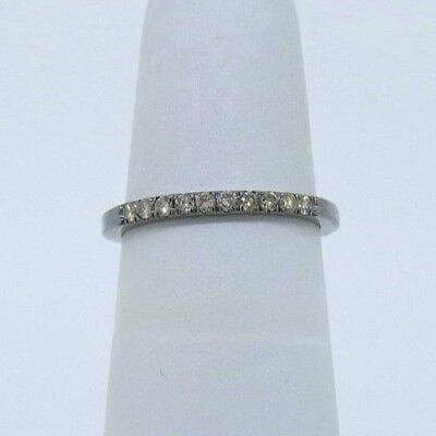 49385ac7916 Details about 14K White Gold Black Rhodium Plated 0.19ct Champagne Diamond  Wedding Band Ring