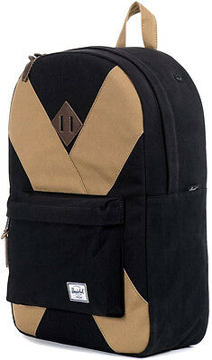 Zaino Uomo Donna Herschel Backpack Men Woman Heritage Studio Black/Sand Porta Pc
