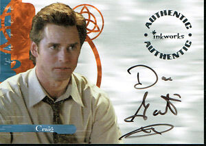 Charmed-Power-of-3-AUToGRAFO-CARTA-A12-DE-DAN-Gauthier-COMO-CRAIG