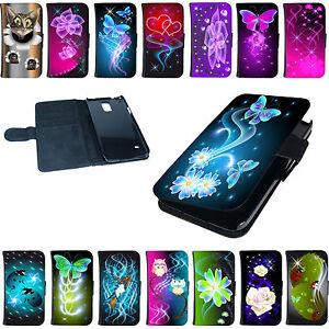 Handy-Huelle-Flip-Tasche-Schutzhuelle-Cover-Case-Schutz-Etui-fuer-Smartphone-Motiv