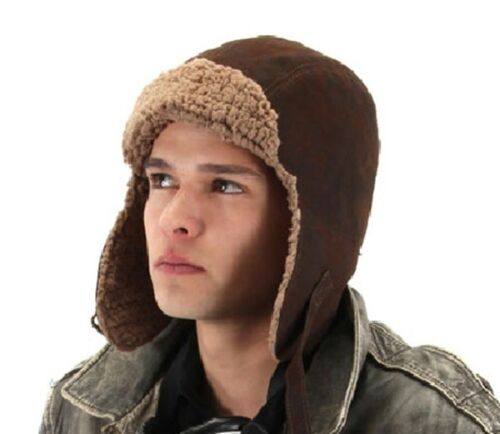 Cap NEW SteamPunk WW I Aviator Style Brown Lined Hat