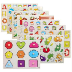Neuf Pour Bébé Puzzle Enfants Puzzle Alphabet Lettres Animaux en bois Learning Toys