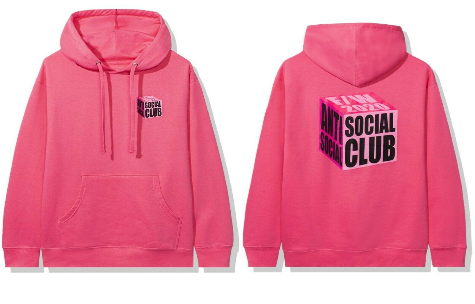 DS Anti Social Social Club ASSC I Wish I Was Wrong Pink Hoodie in hand Supreme