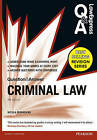 Law Express Question and Answer: Criminal Law (Q&A Revision Guide) by Nicola Monaghan (Paperback, 2015)