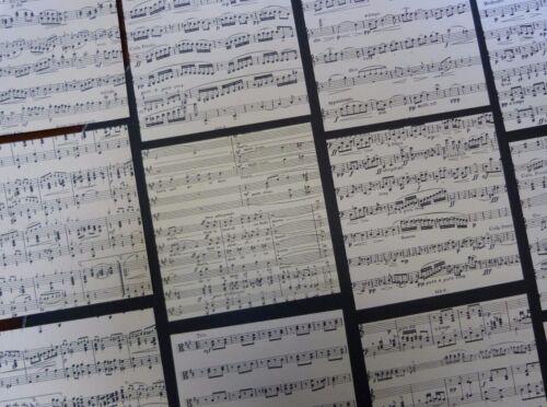 20 sheets ORIGAMI paper genuine random music sheets 18x18cm VINTAGE