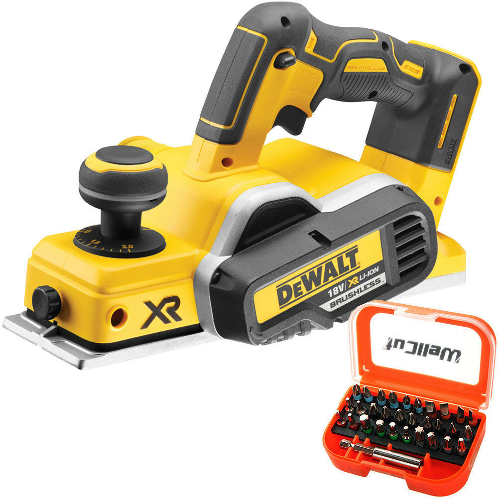 DeWalt DCP580N 18V XR Cordless Brushless Planer With 31pcs Screwdriver Bit Set